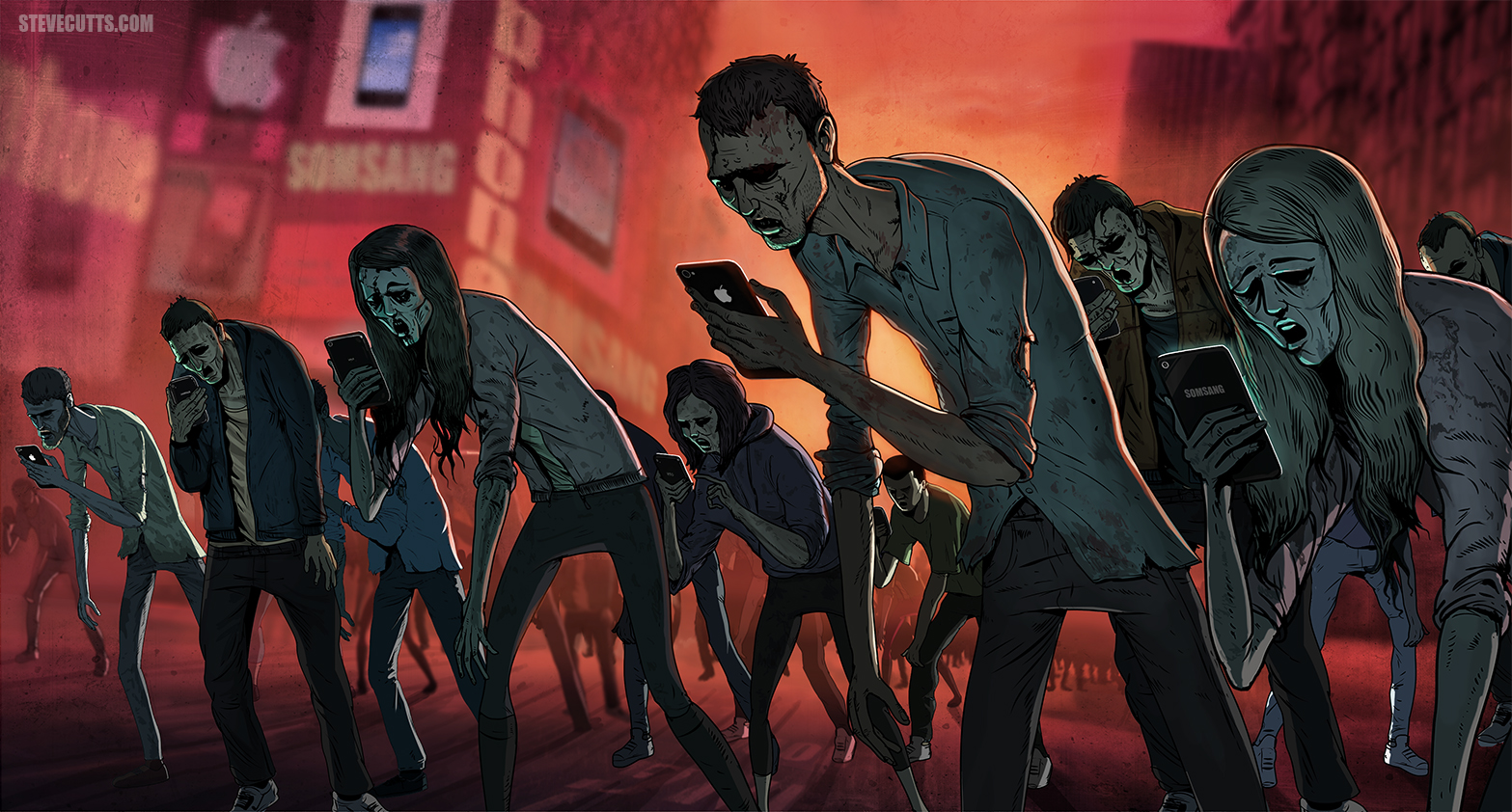Why be afraid of zombies? Social media already made you one! Find out how social media can turn your whole life upside down.