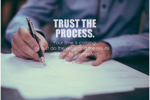 Most people don't get the value of the process. They're solely focused on the end result and they fall into the trap of life after that.